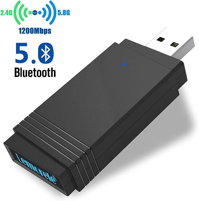 67 opinioni per Lemorele Adattatore WiFi USB 3.0 AC1200Mbps Bluetooth 5.0 Super Veloce Dual Band
