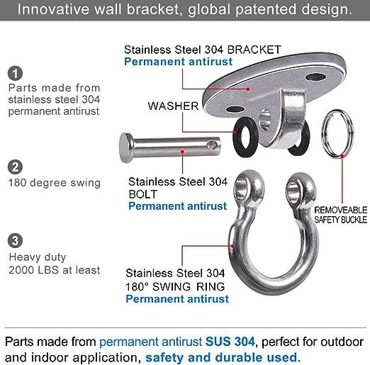 Industriequalit/ät 7,6 cm H/ängematte 4 Packungen Swing-S-Haken Cozihom Robuste S-Haken aus 304 Edelstahl