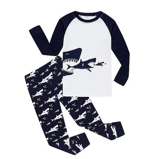 c1e17ce3a Amazon.com: Little Boy Pajamas Sets,Jchen(TM) Kids Little Boys Cartoon Shark  Printed Tops Pants Homewear Sleepwear Outfits: Clothing