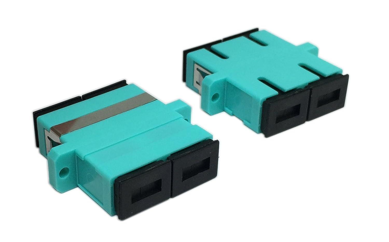 Cerrxian LC Duplex Fiber Optic Adapter LC Female to LC