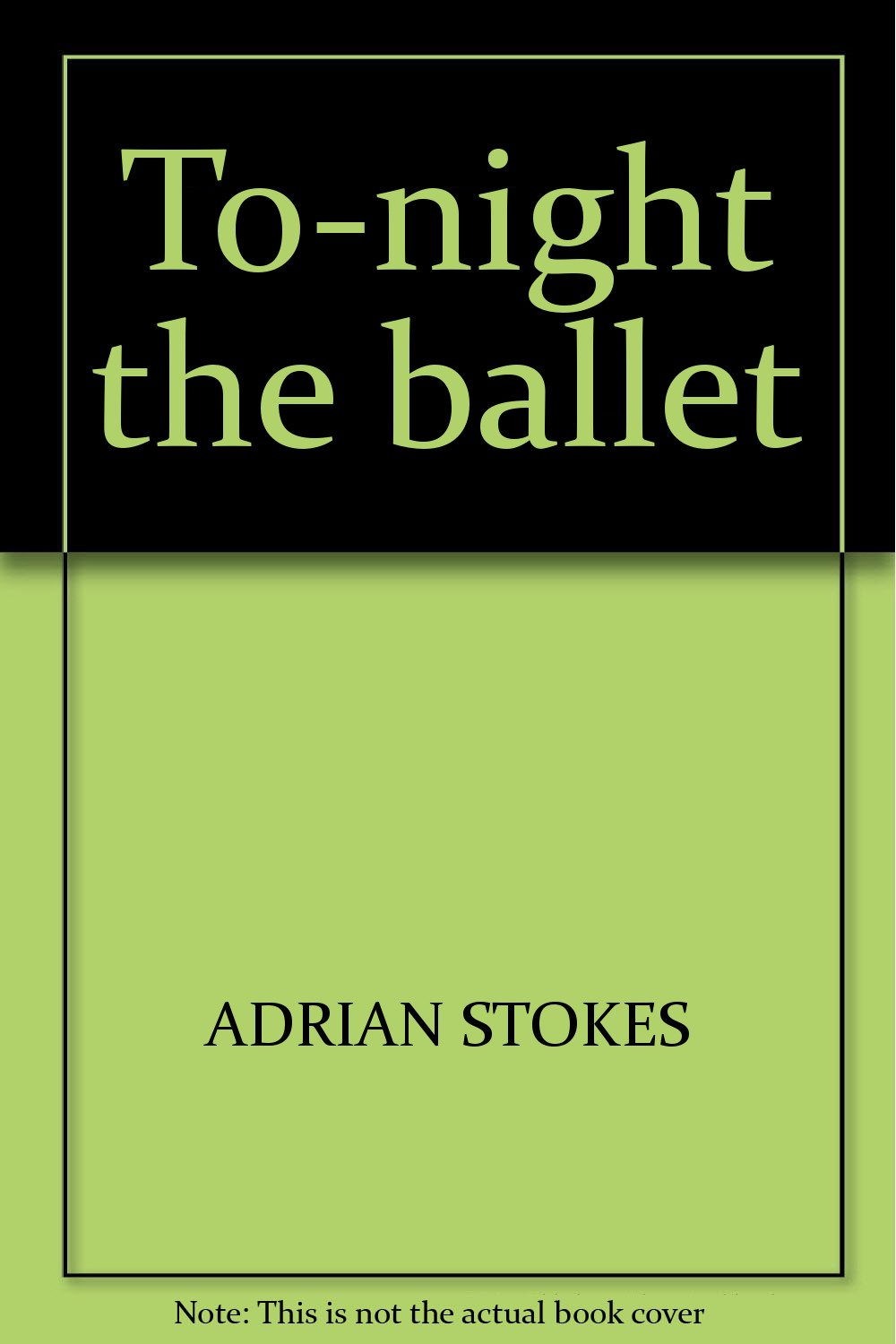 To-night the ballet