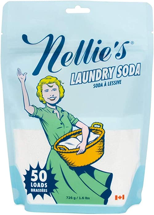 Nellie's Laundry Detergent Soda, 1.6lbs, 50 Load Bag