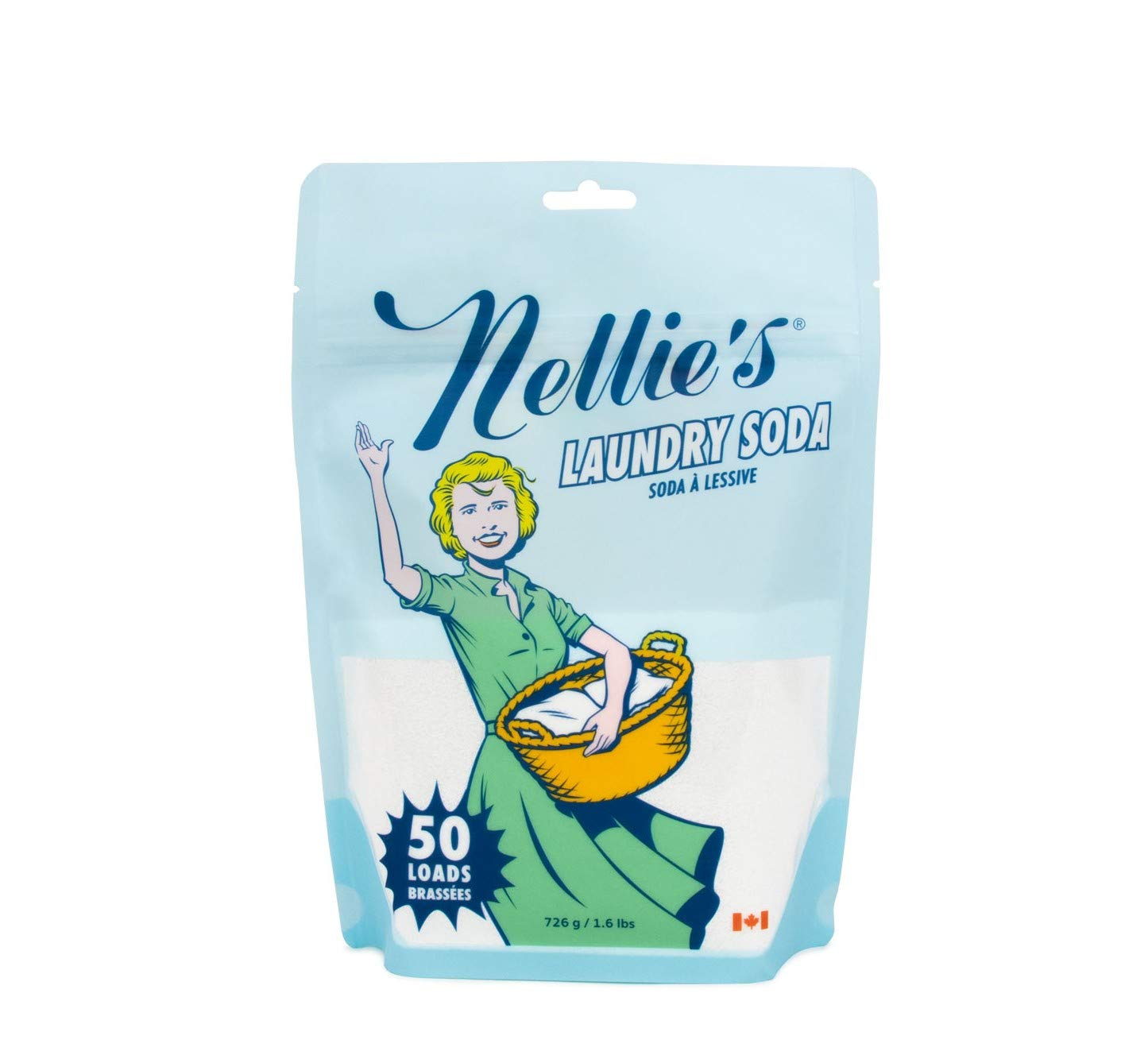Nellie's Laundry Detergent Soda, 1.6lbs, 50 Load Bag by Nellie's