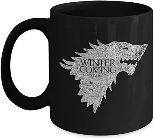 Amazon Com Inspiring Products Game Of Thrones Mug Coffee Cup Ceramic Mug Winter Is Coming House Stark Cup Home Kitchen