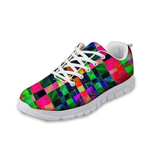 MODEGA Zapatos a Cuadros Zapatos de Colores Zapatos de Las Zapatillas de Deporte de Cricket para