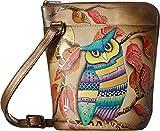 Anuschka Handbags Women's 493 Two Sided Zip Travel Organizer Magical Night Crossbody Bag
