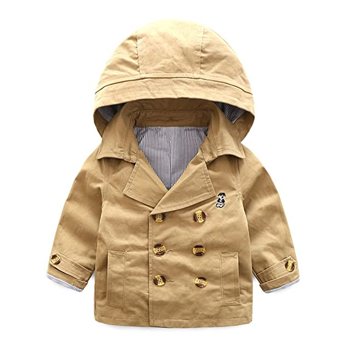 top quality top-rated new lower prices Mud Kingdom Toddler Boys' Classic Peacoat Hooded Toggle Coat