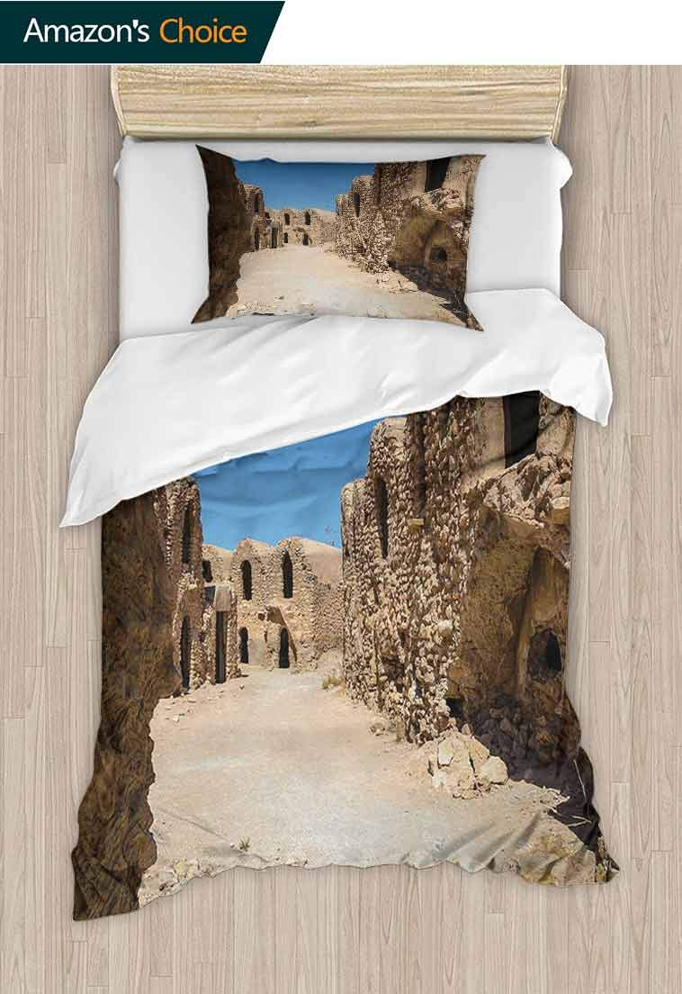 Galaxy Custom Made Quilt Cover and Pillowcase Set, One of Abandoned Sets of the Movie Tunisia Desert Phantom Menace Galaxy Wars Themed, Print Duvet Cover Sets Soft Microfiber 2Pcs Quilt Cover by carmaxshome