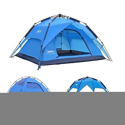 3-4 personnes tente de camping de tente extérieure automatique de tempête de pluie de défense aérienne double tente de camping multijoueur