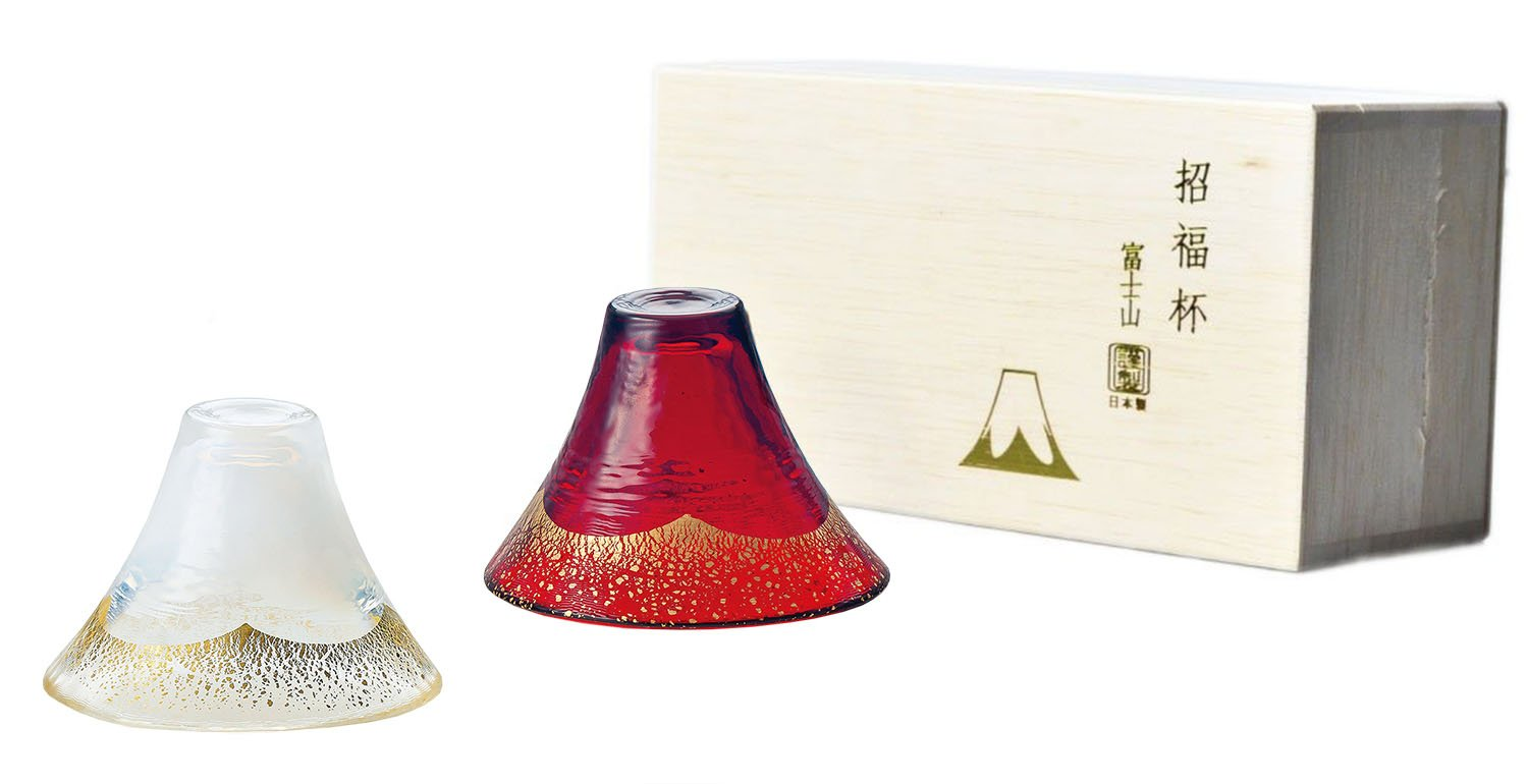 Align Made in Japan ]µ•ŸCup Fuji cold sake Cup ( gold white, Akane gold ) ( capacity 65ml ~ 2)