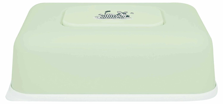 Bébé-Jou - Caja para toallitas húmedas, diseño de cebra tumbada, color verde, blanco y negro: Amazon.es: Bebé