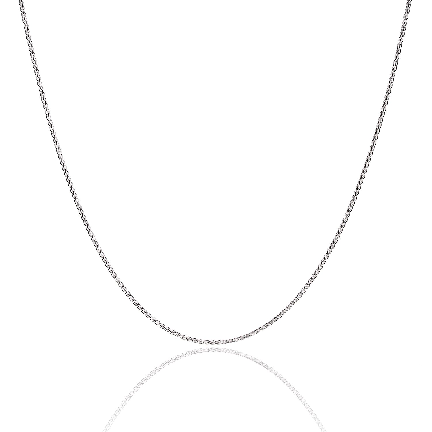 925 Sterling Silver 1.3MM Wheat Chain Lobster Claw Clasp 24'' by Designer Sterling Silver (Image #8)