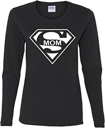 Super Mom Funny V-Neck T-Shirt Superhero Parody Mothers Day
