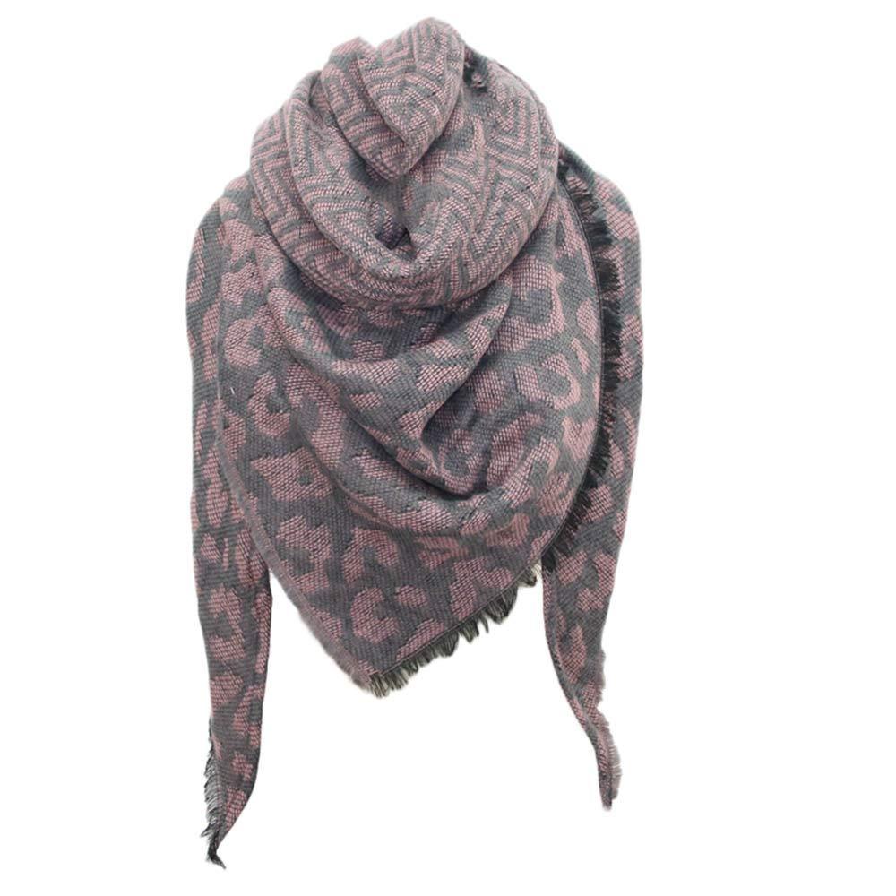 Clearance Kumike Fashion Women Winter Warm Leopard print Long Wrap Shawl Scarf Stole Cape S