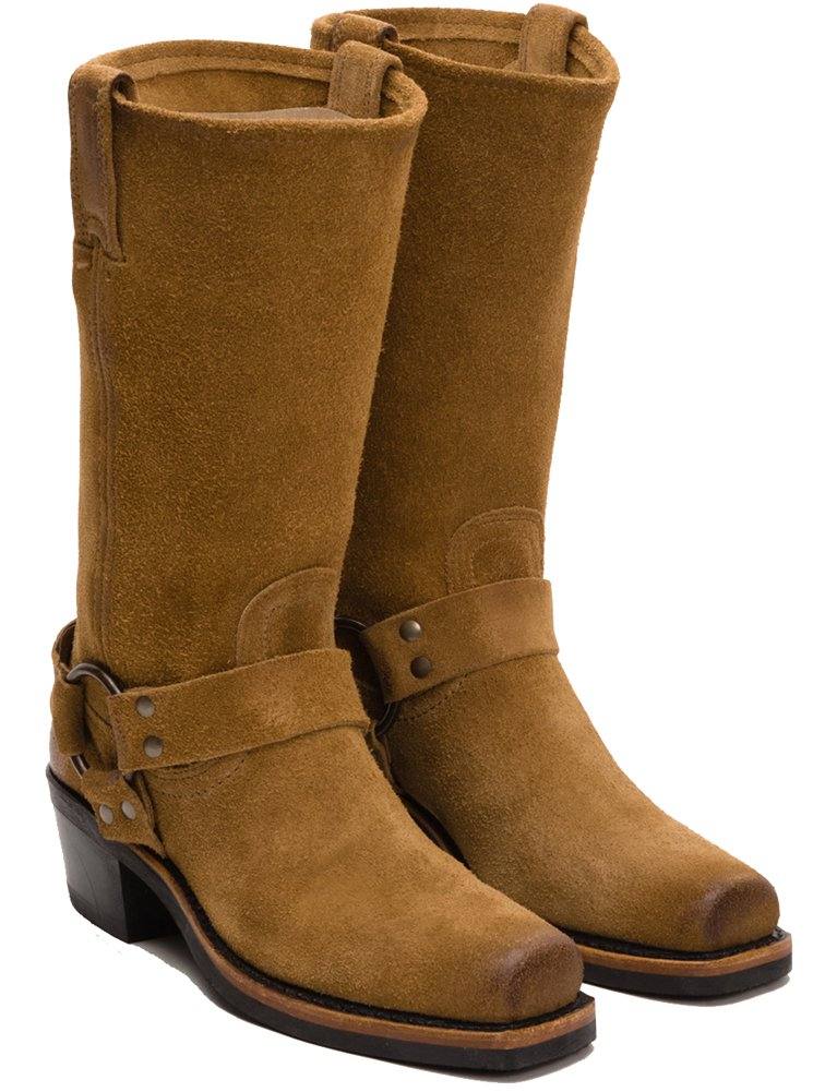 FRYE Women's 12R Harness Boot B00ZW7X8JG 6.5 B(M) US|Tan Oiled Suede