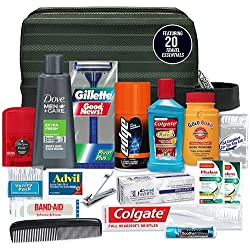 Convenience Kits Men's Premium 19-piece Necessities Travel Kit