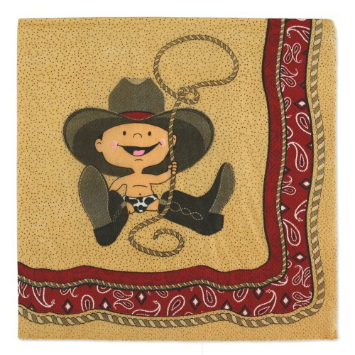 Little Cowboy   Western Luncheon Napkins (16 Count)