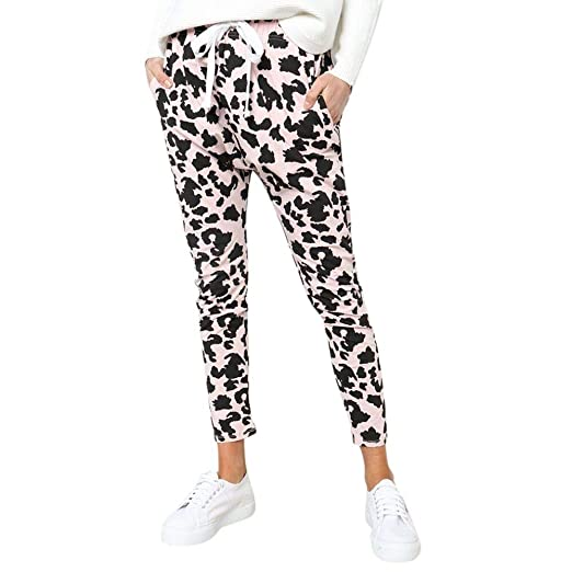 fb5b2c1b8a9 Clearance Sale! Women Pants Women Leopard Print Casual Slim Elastic ...