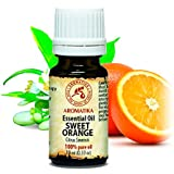 Orange Essential Oil 10ml - 100% Pure & Natural - uses for Tension Relief - Good Mood - Anti Cellulite Effect - Best for Beauty - Wellness - Massage - Bath - Personal Care - Diffuser - Aroma Lamps