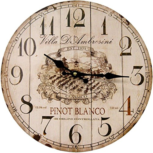 HDC International 05-0083 Pinot Blanco Round Wall Clock, 13