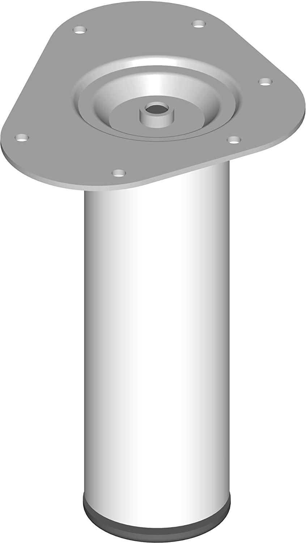 11100-00034 4 Farben L/änge 30 cm Durchmesser 30 mm M/öbelf/ü/ße inklusive Anschraubplatte schwarz Element System 4 St/ück Stahlrohrf/ü/ße rund 11 Abmessungen Tischbeine