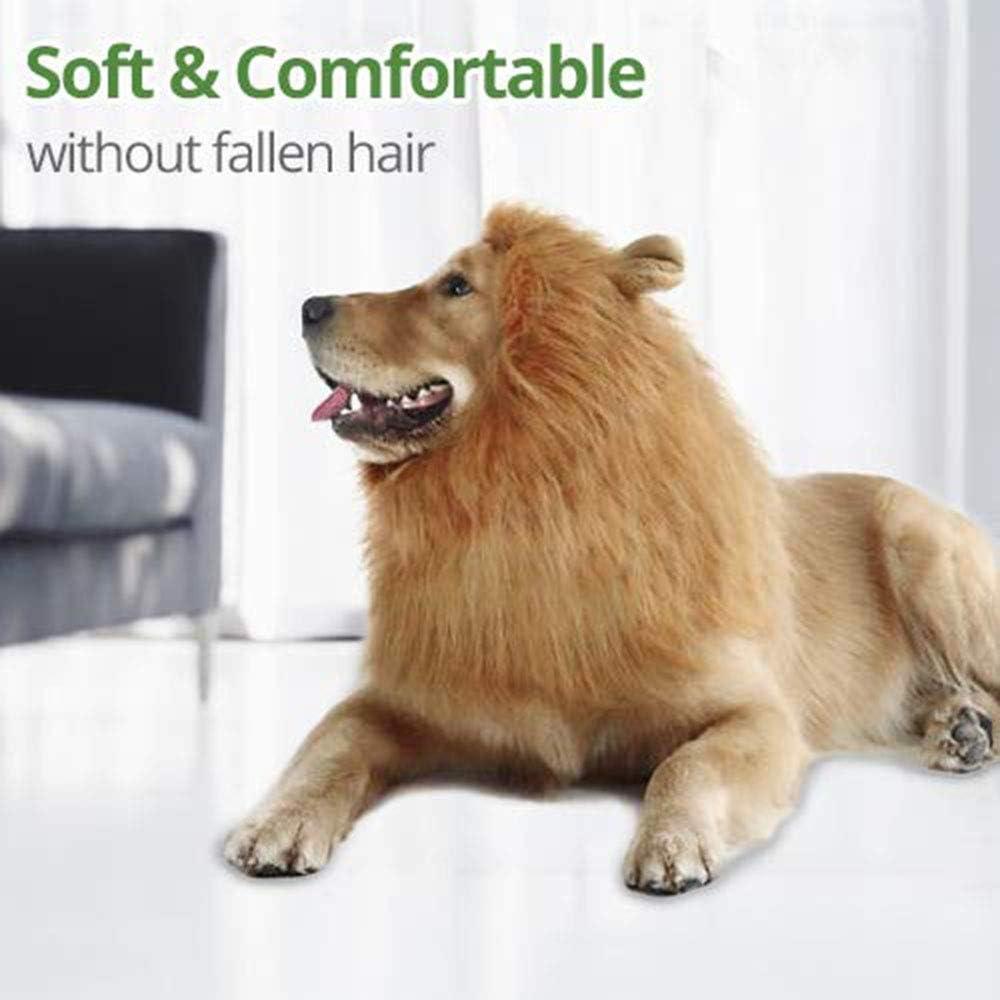 BYFWA Disfraz de para Mascota,Casco de león, diseño Llamativo ...