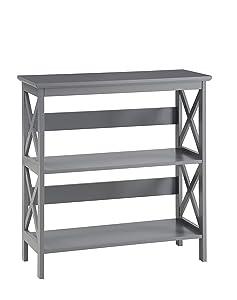 Convenience Concepts Oxford 3-Tier Bookcase, Gray
