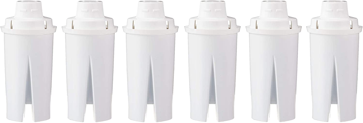AmazonBasics Replacement Water Filters for Water Pitchers - 6-Pack