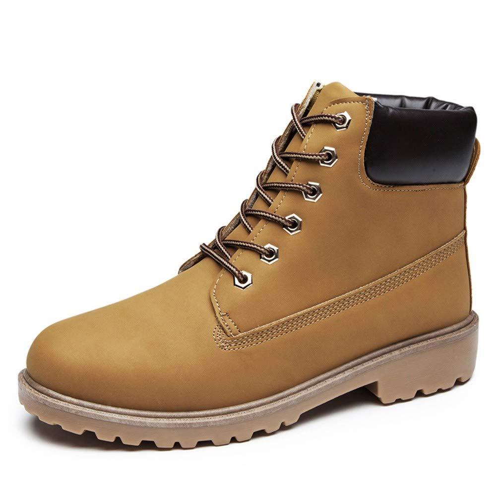 showsing Chaussures Homme en Daim Couleur Unie Bout Rond Chaussures compensées Garder au Chaud