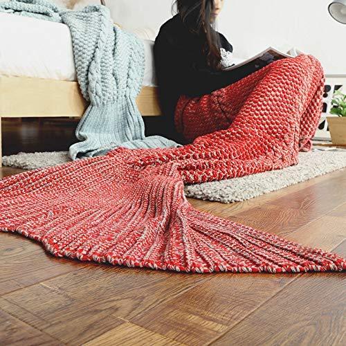 Yunyilian マーメイドマーメイドテールソファ (Color : 赤, サイズ : 190*80CM) B07SMTDT4J 赤 190*80CM