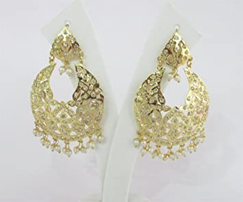 finish earring original designers buy hoop bali indian golden pearl designs gold adiva ethnic earrings jewelry dds online vintage