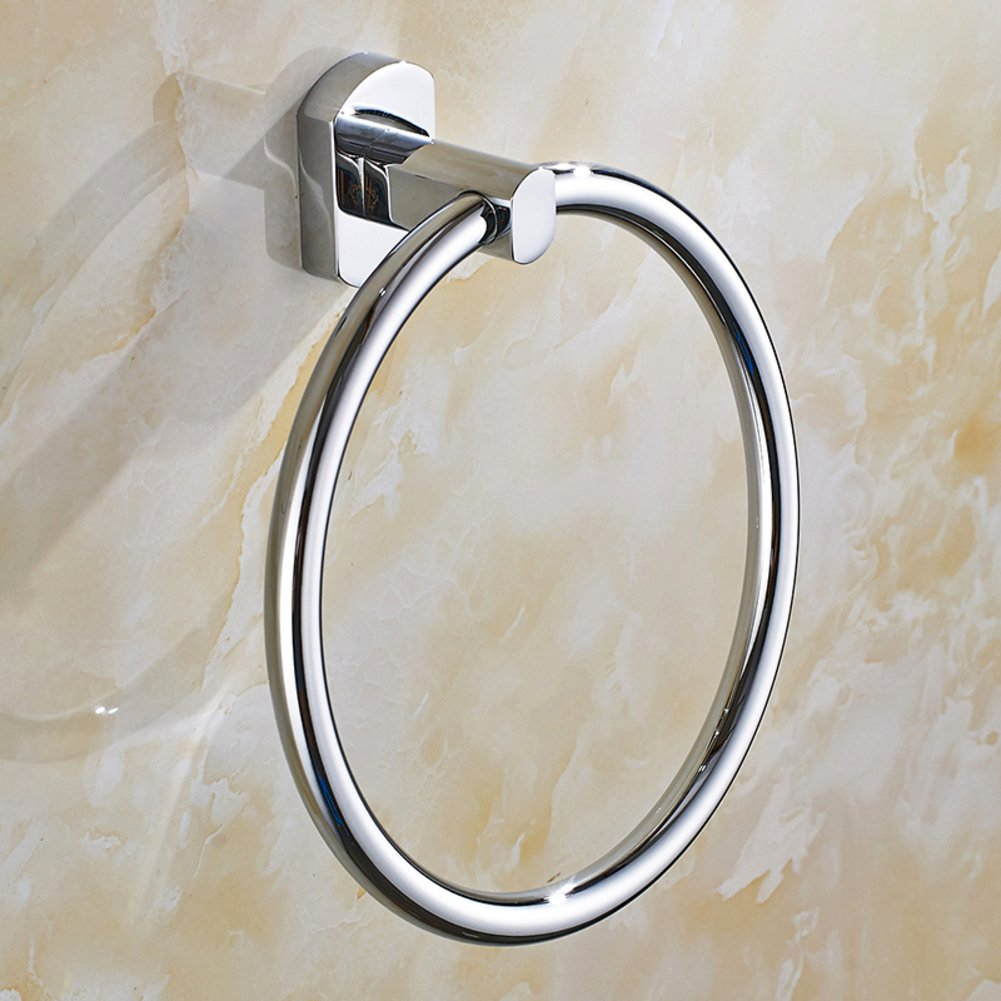 best round towel rings/Copper bathroom towel ring/ European-style metal pendants and shelf Towel rack/[Glove towel rack]-A