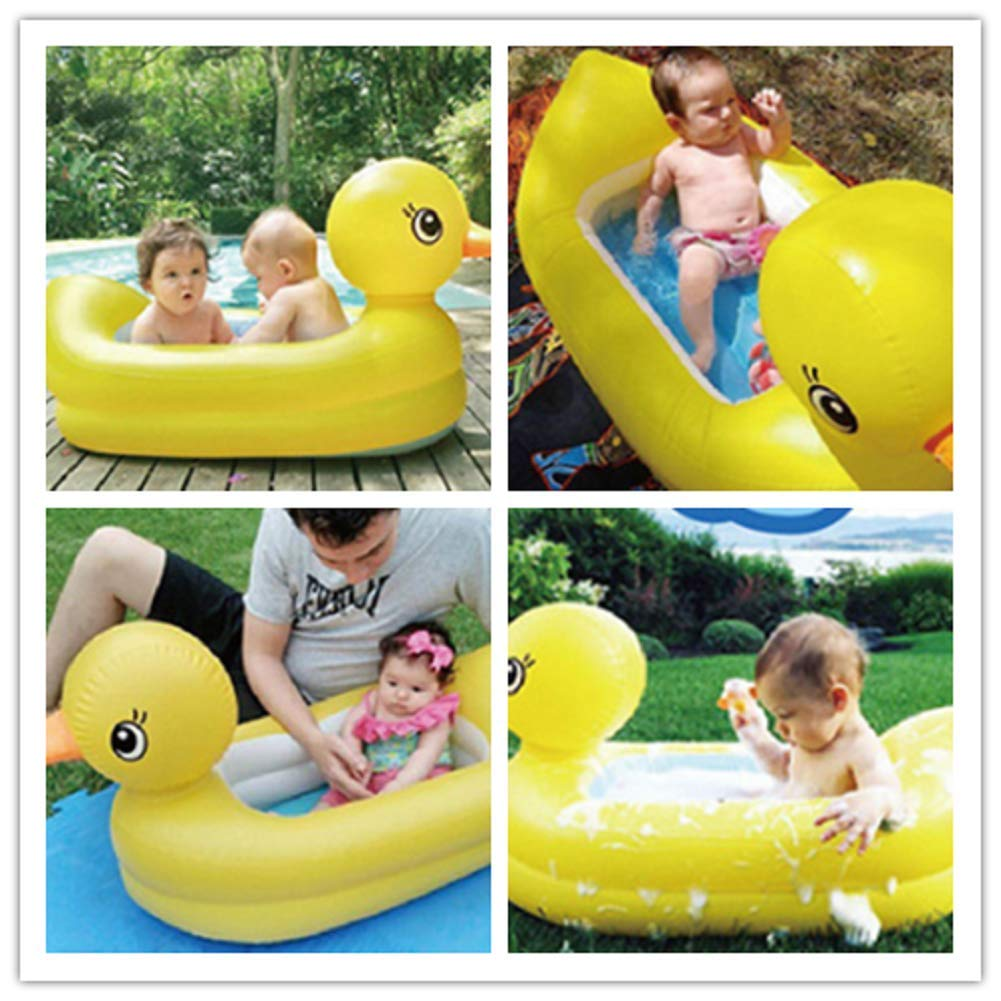 Inflatable Small Yellow Duck Baby Tub Thick and Durable,Anti-Slippery Swimming Pool Foldable 6-24 Months Syhonic Inflatable Bathtub
