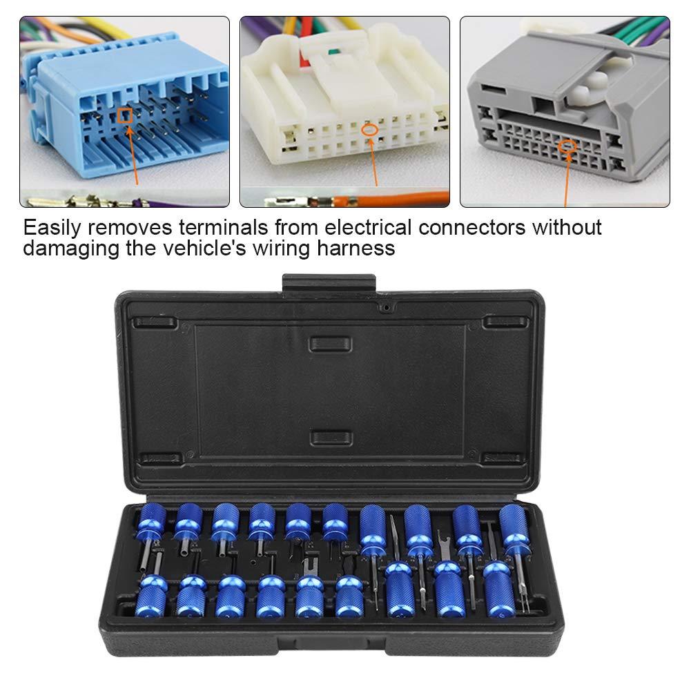 Zerone 12 Pcs Herramienta de Extracci/ón de Liberaci/ón de Terminal de Conector El/éctrico Universal para Autom/óvil