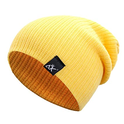 Unisex Solid Color Winter Knitted Beanies Hip-hop Snap Slouch Outdoor Hat  Men Women Skiing Warm Cap  Amazon.co.uk  Kitchen   Home 210d7ecc656f