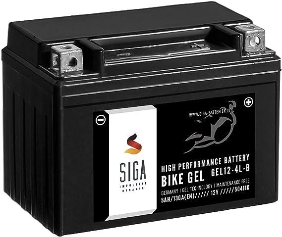 Siga Gel Motorradbatterie 12v 5ah 130a Elektronik