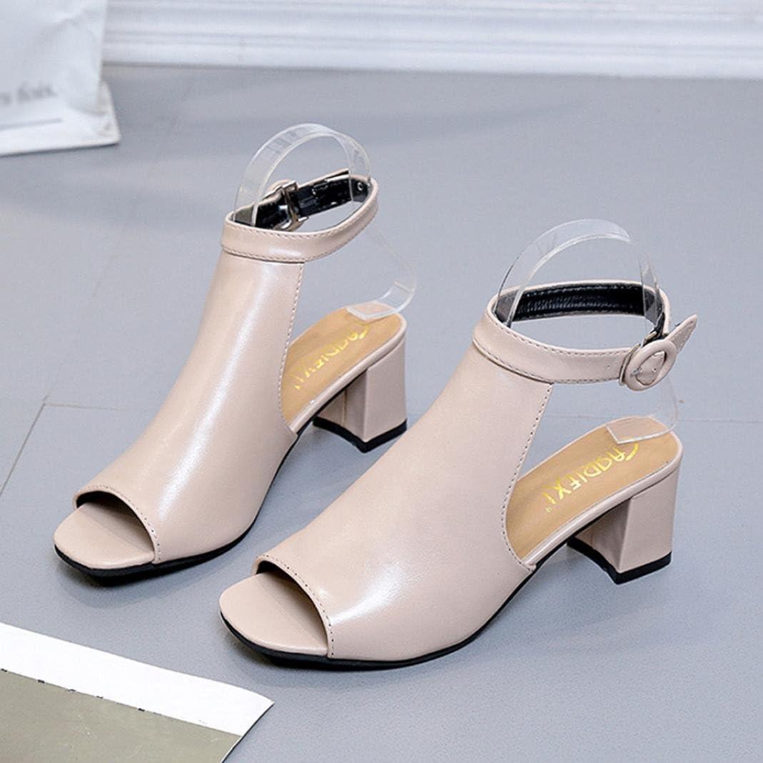 alla Schiava Donna Sandali Estivi SANFASHION Bekleidung SANFASHION Damen Schuhe 144155 Scarpe Casual da Donna Selvagge Tacchi Alti da Temperamento