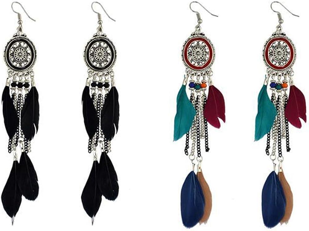 Babasee 6 Pairs Bohemian Stud Earrings Set Vintage Hollow Earrings for Girls Women
