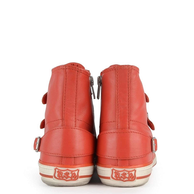 224599d41c1ea Ash Footwear Virgin Coral Leather Buckle Trainer 41EU 8UK Coral   Amazon.co.uk  Shoes   Bags