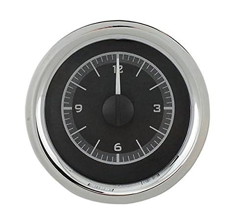 Dakota Digital 55 56 Chevy coche reloj analógico calibre para Vhx calibres sólo negro aleación blanco