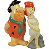 Flintstones Theme Salt and Pepper Shakers with Fred Kissing Wilma