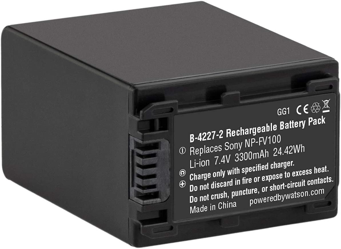 Digital Replacement Camera and Camcorder Battery for Sony NP-FV100 NP-FV30 NPFV50