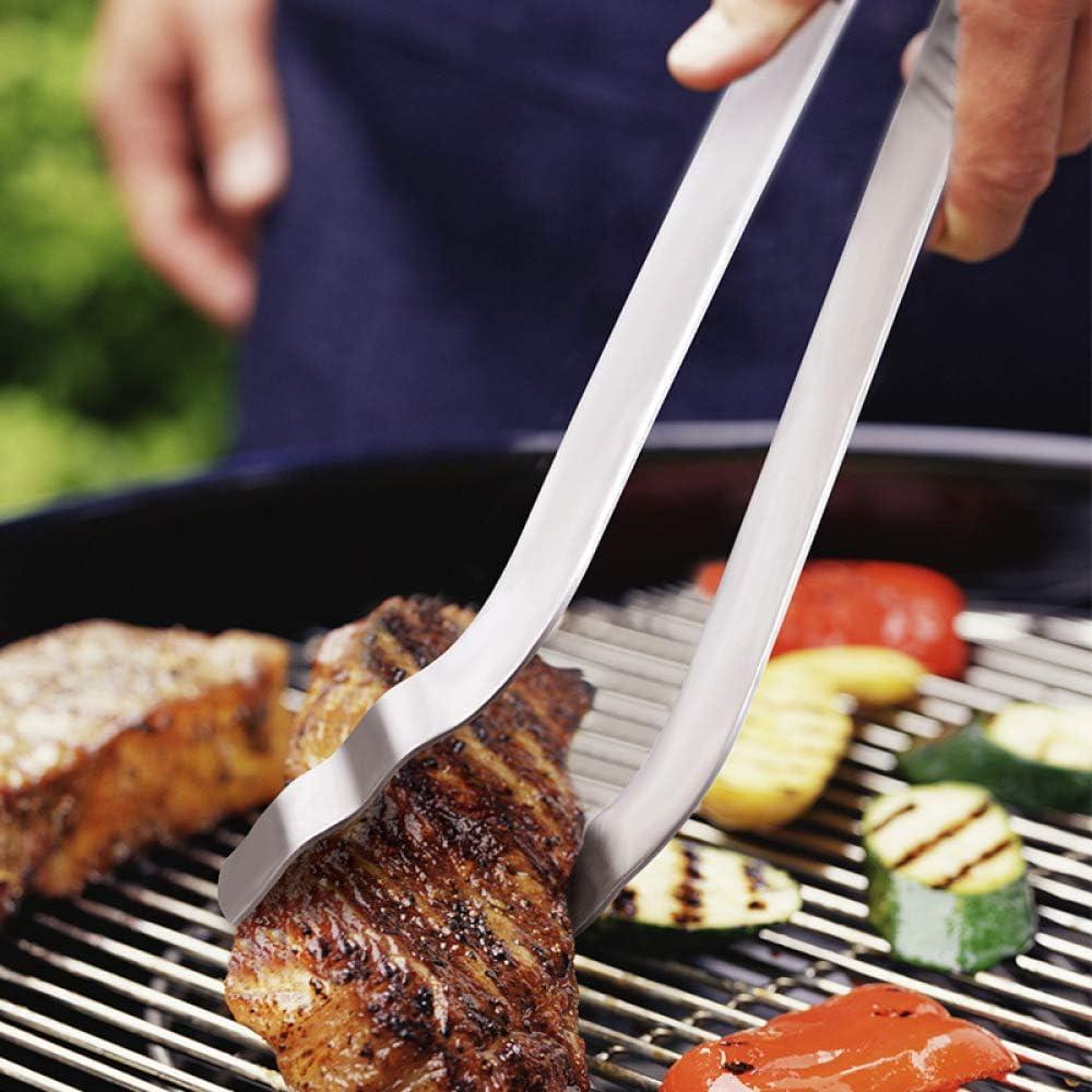 Donnu Pince de barbecue en acier inoxydable 304 35 cm Argenté. Argenté.