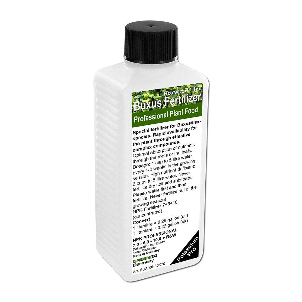 Buxus (common box, European box, or boxwood) Ilex Liquid Fertilizer HighTech NPK, Root Soil Foliar Plant Food GREEN24