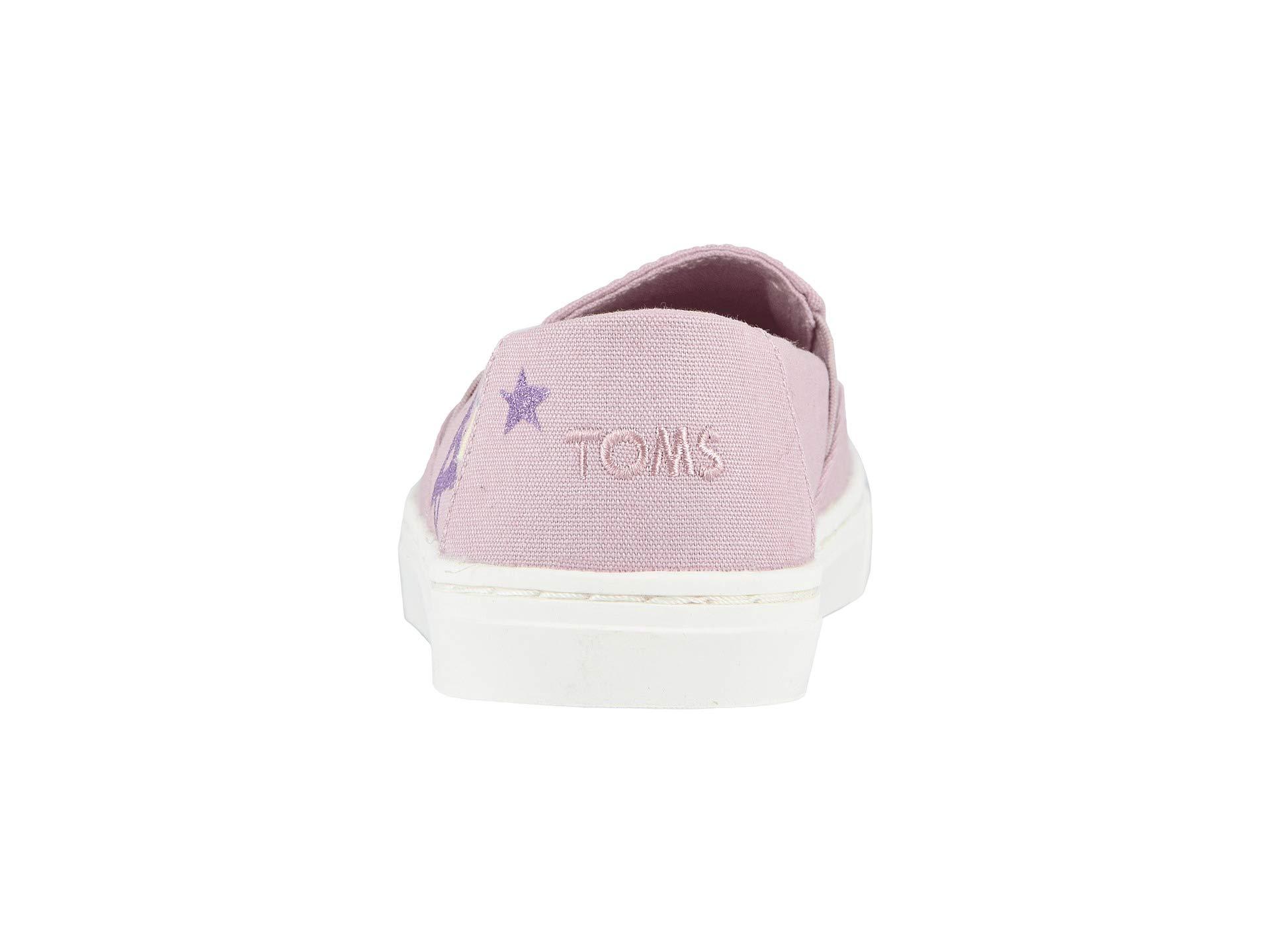 TOMS Youth Luca Slip-On Shoes, Size: 3.5 M US Big Kid, Color: Brnsh Lilac Glt Star by TOMS Kids (Image #3)