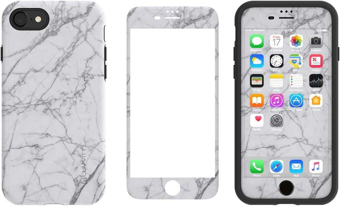 LUVVITT [Artology] Armor Case and Tempered Glass Set for iPhone 7 Plus / 8 Plus - Bundle P019