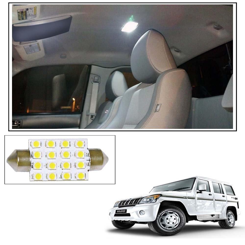 ff25dcfe399 Vheelocityin 16 SMD LED Roof Light White Dome Light for Mahindra Bolero   Amazon.in  Car   Motorbike