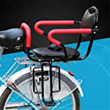 Bicycle Rear Seat Kids Cushion Footrest Set?Child Safety Carrier Universal Bicycle Rack Baby Toddlers Seat with Back Rest Detachable Fence Armrest Foot Pedals