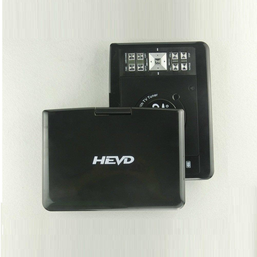 ポータブル DVD プレーヤー,スイベル スクリーン付け 内蔵充電式電池 Avi rmvb mp3 jpeg mp4 子供のためのギフト パーフェクト キャンプ 旅行-ブラック B07CNR1VPJ