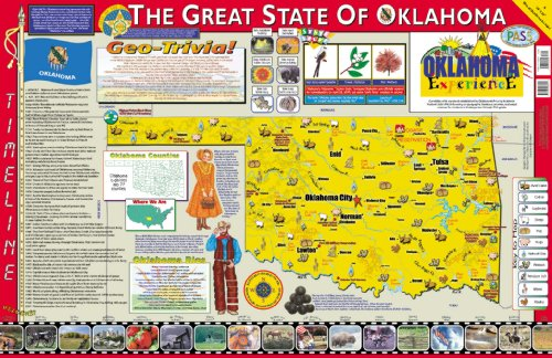 Gallopade Publishing Group 22 x 34 Inches The Oklahoma Experience Poster/Map (9780793396009)